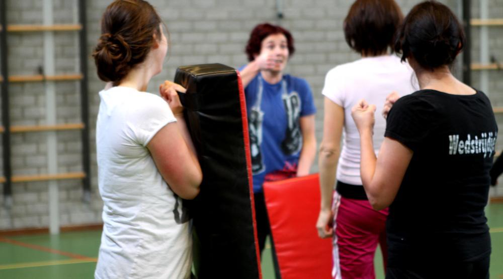 Slide 3: Workshop Kickboksen